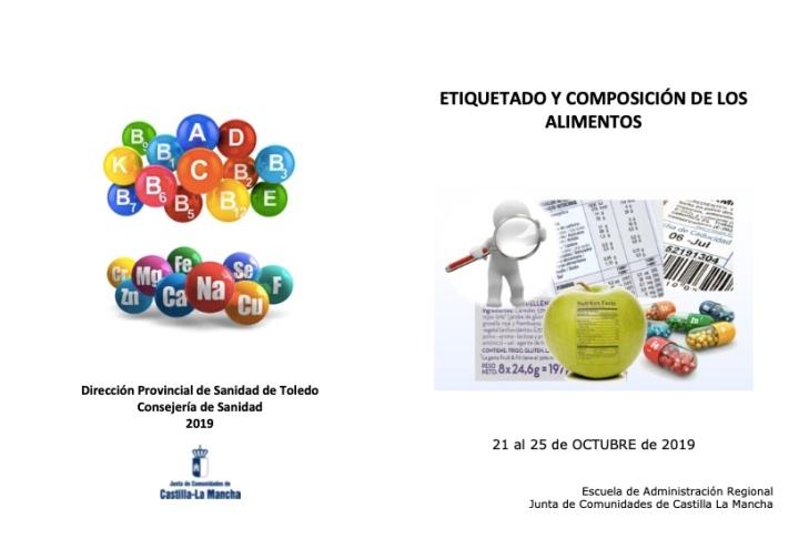 Cartel Jornadas etiquetado y composición de alimentos JCCM