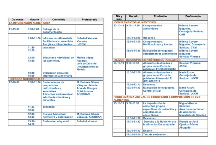 Ponencias Jornadas etiquetado y composición de alimentos JCCM
